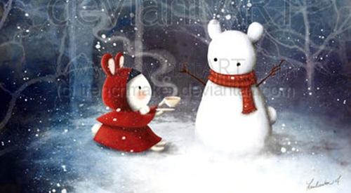 Чайная вечеринка зимой