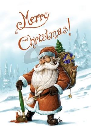 """Открытка """"Счастливого Рождества!"""""""