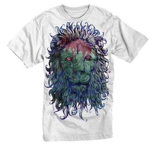 лев с гранжевом стиле