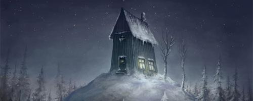 серая зимняя иллюстрация