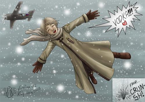 российская зима в комиксах