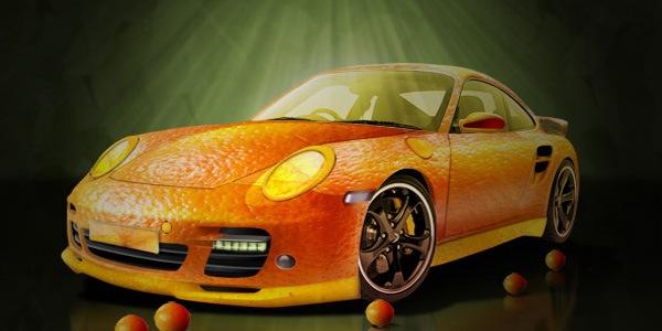 Апельсиновый Порш. Фруктовая кожура