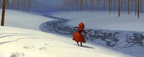 креативные зимние работы художников