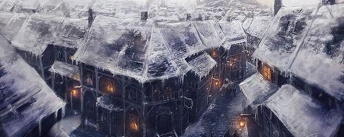 Переполненный зимний город
