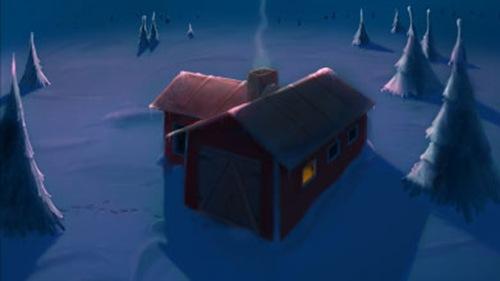 Дом среди зимней пустыни