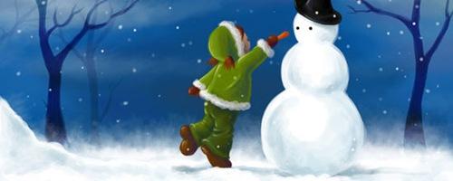 Амели в снегу