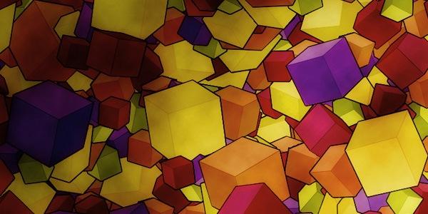 3D трансформер из разноцветных кубиков