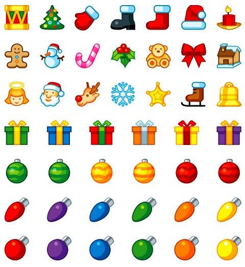 Рождественские иконки для тебя