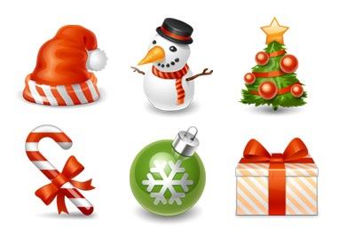 Новогодние праздничные иконки