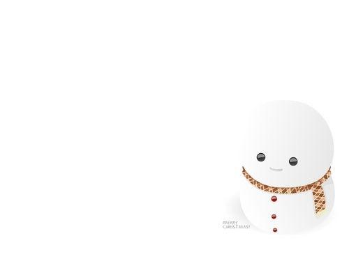 белый снеговик на рабочий стол