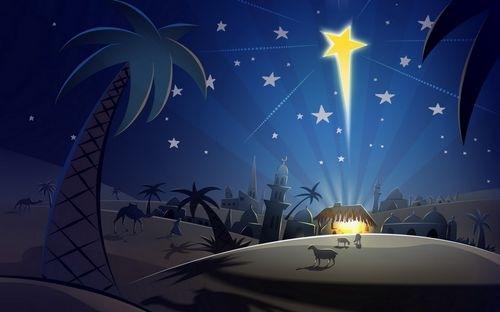 иллюстрация рождение Иисуса на рабочий стол