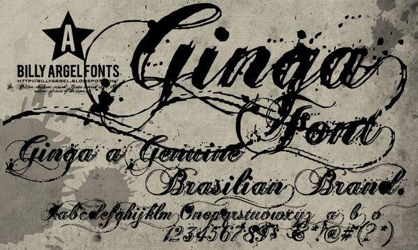 Стильные латинские шрифты 2