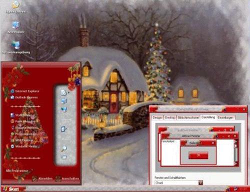 6 зимних тем для Windows XP бесплатно