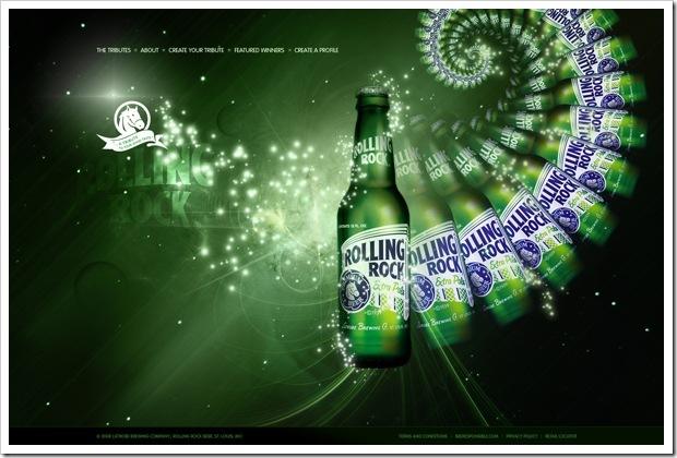 яркий дизайн для сайта пива
