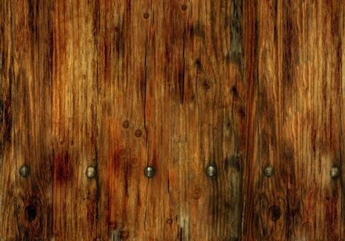 деревянная текстура с гвоздями