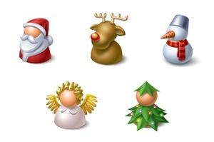 Рождественские иконки-фигурки