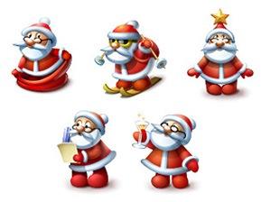 иконки Санта