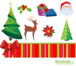 Рождественские иконки в векторе