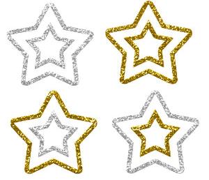Векторные рождественские звезды