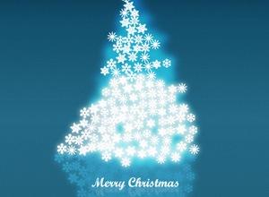 Новогодняя елка из звезд