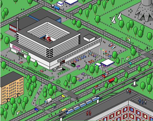 красивую пиксельная анимированная карта