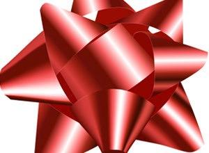 Красный подарочный бант