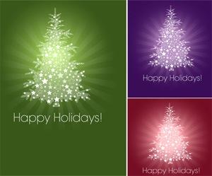 Векторные новогодние елки
