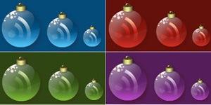 Рождественские RSS иконки