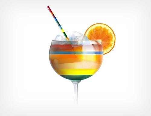 иллюстрация коктейля