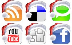 Рождественские иконки закладки