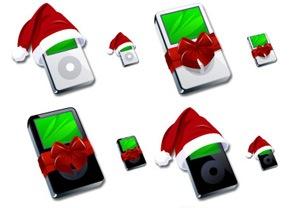 Рождественские iPod иконки