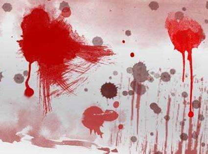 Создайте обои в кровавых брызгах