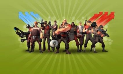 Обои в стиле популярной игры Team Fortress 2
