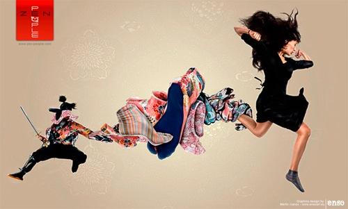 Рекламный постер одежды для людей занимающихся йогой