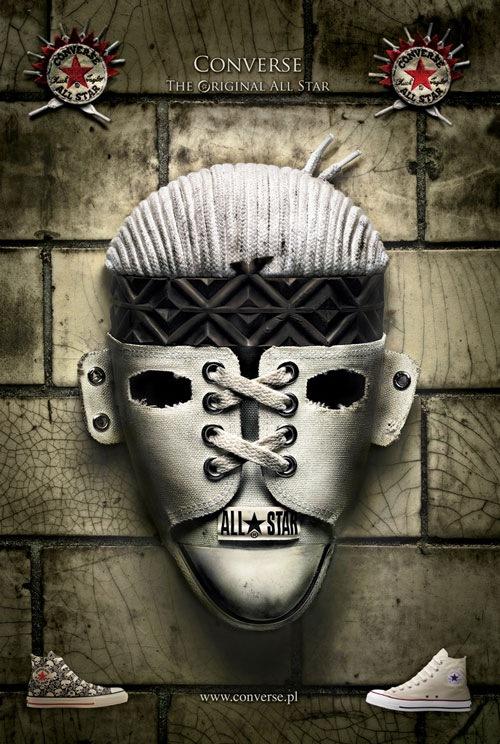 Кеды Converse: Белая маска