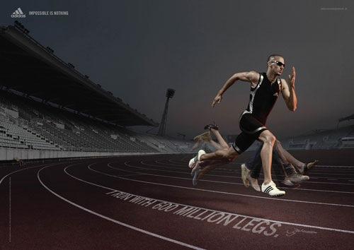 рекламный постер Adidas
