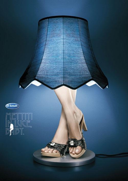 реклама обуви Dr. Scholl's