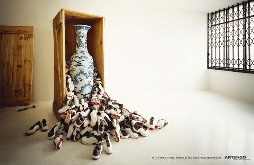 Реклама теннисных туфель Artengo