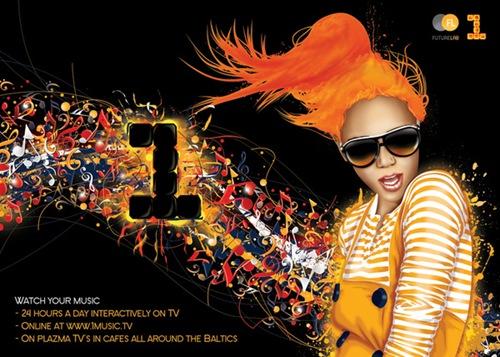 Рекламный постер музыкального канала