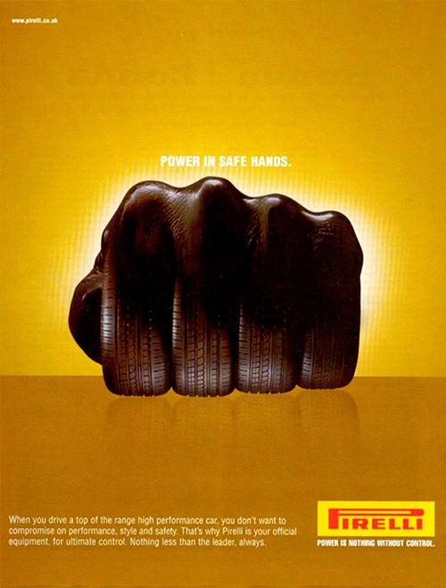 Рекламный постер компании Pirelli