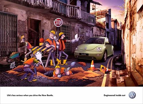 Рекламный постер автомобиля Volkswagon