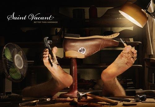 рекламный постер обуви Saint Vacant