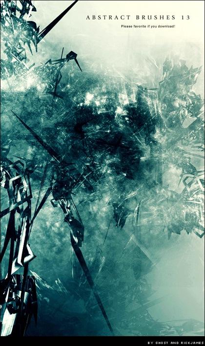 13 абстрактных кистей