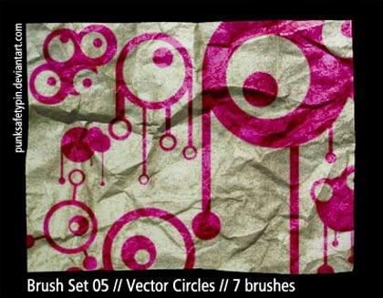 Набор из 7 векторных кистей-кружочков
