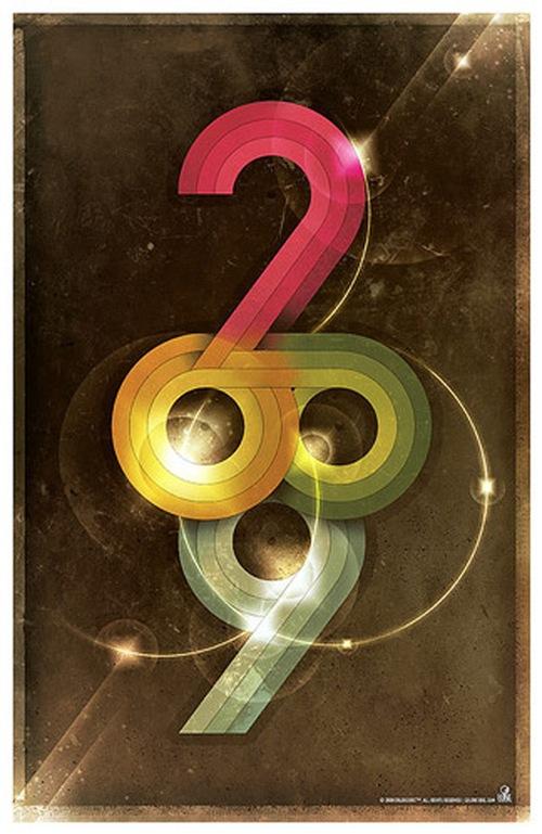 """Постер под названием """"Colorcubic 2009"""""""