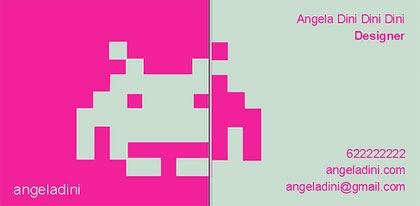 дизайнерская пиксельная графика на визитке