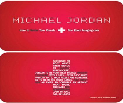 Майкл Джордан визитка