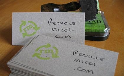 штампы на визитках