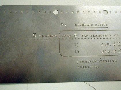 металлическая визитка