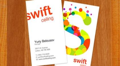 яркая типографика на визитке